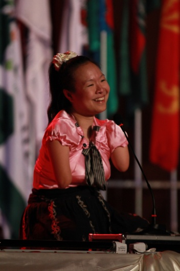 Nui speaking at the We Walk Together conference in 2010