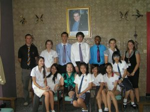 Student Steering Committee with Khun Nui at the Father Ray Foundation