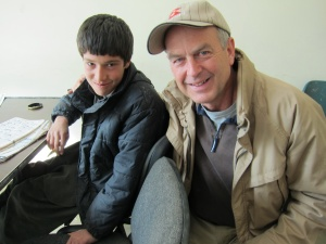 Peter with Asadullah in Kabul