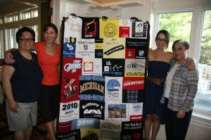 What a great idea for university - a quilt made of all your old t-shirts!