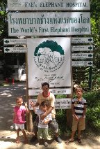 At the Elephant Hospital just south of Chiang Mai