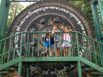 A really big gong on Doi Suthep