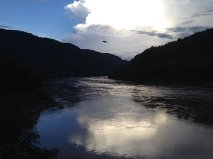Evening in Pak Beng, Laos, looking down at the Mekong