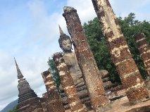 One of many impressive Buddhas in Sukothai