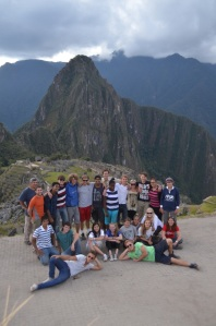 Anita in Peru with her new friends on the RSIS project
