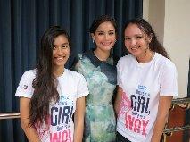 Mae with YaYa and the Girl-Up group