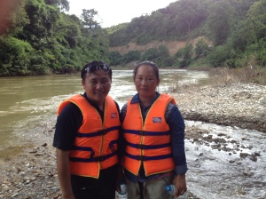 Chipseng with his wife Char by the Seuang River