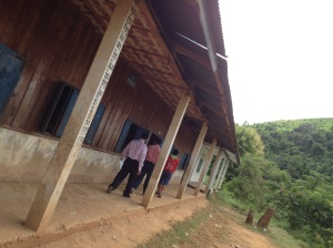 The roof above the classrooms