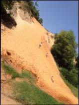 a flying sand dune in Mui Ne