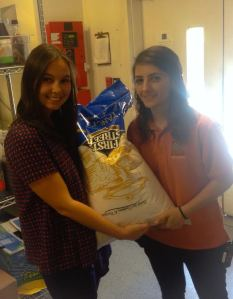 Donating my bag of rice!