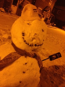 One happy snowman