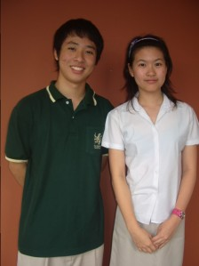 Kyu Bak and Nics, a great Head Boy and Head Girl team - student leaders